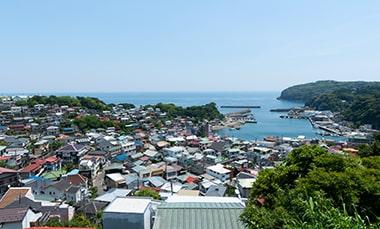 真鶴町を見渡せる風景写真