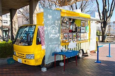 お好み焼き店「Sunny Side Kitchen」のキッチンカーの写真