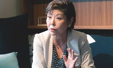株式会社スペースRの事業(整理収納)を始めた理由を語る株式会社スペースRの戸田さんの写真