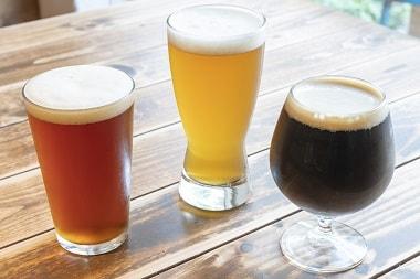 3種類のクラフトビール